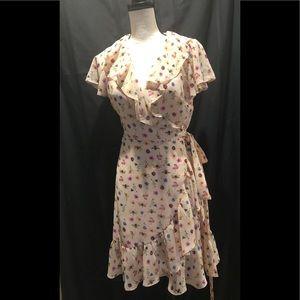 Betsey Johnson butterfly wrap dress